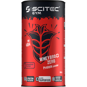 SCITEC Whey Bro+ Zero Protein Powder 500g Strawberry